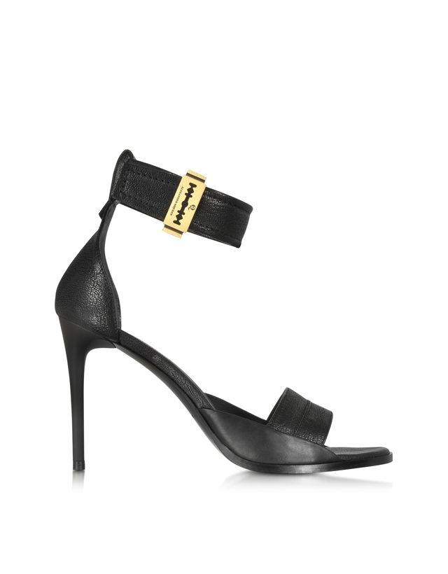 MCQ Alexander McQueen Lana Razor Strap Leather High Heel Sandal