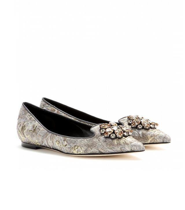 Dolce & Gabbana Bellucci Brocade Ballerinas