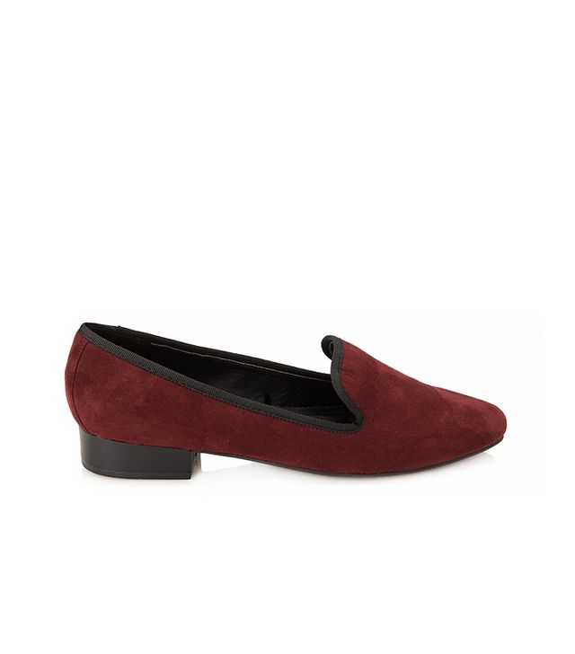 Forever 21 Faux Suede Smoking Slippers