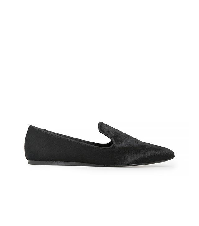 Mango Fur Leather Slippers