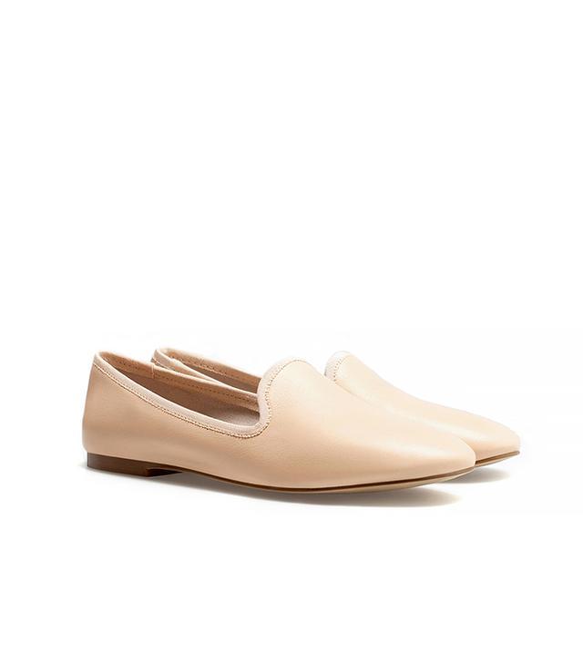 Zara Leather Slip-On Shoes