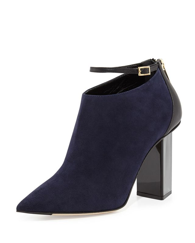 Jimmy Choo Vaunt Suede Ankle-Strap Bootie
