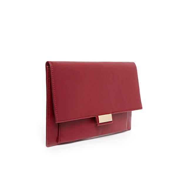 ASOS ASOS Slim Clutch Bag with Metal Tab