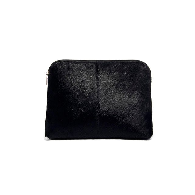 ASOS ASOS Clutch Bag in Pony Effect Leather