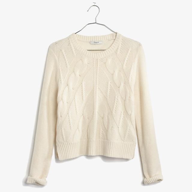 Madewell Chevron Crop Sweater