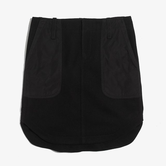 Madewell Quilted Shirttail Skirt