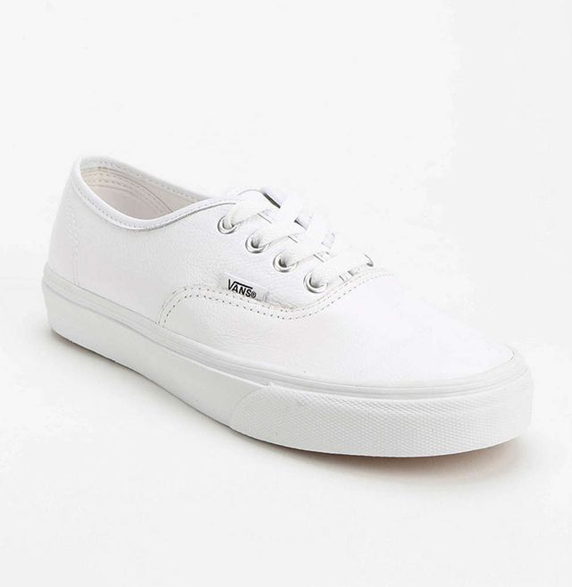Vans Authentic White Leather Low-Top Sneakers