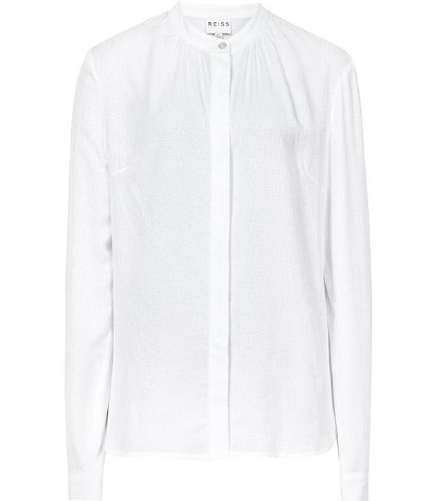 Reiss Yara Textured Clean-Cut Shirt