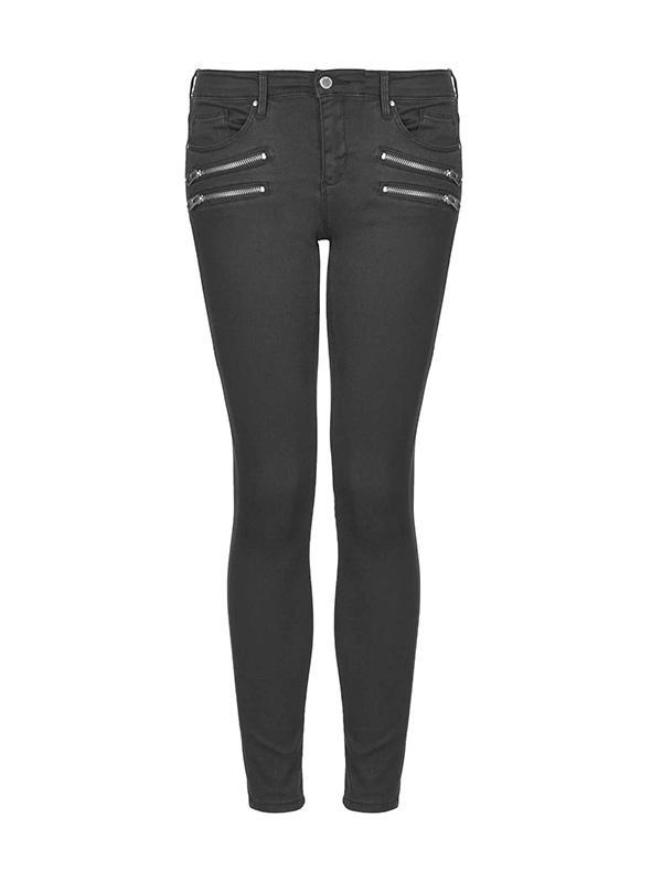 Topshop Moto Low Rise Zip Biker Jeans