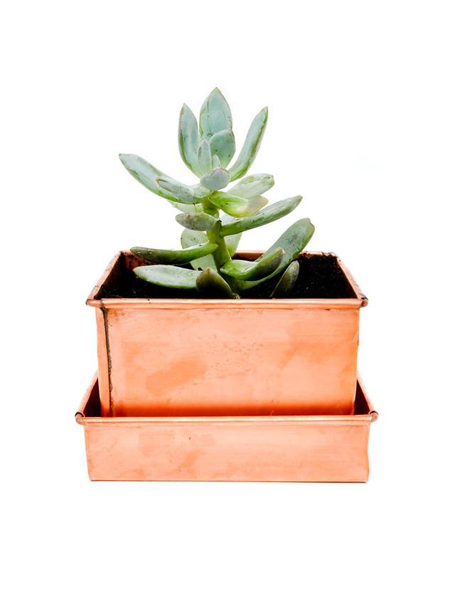 LEIF Copper Patina Planter