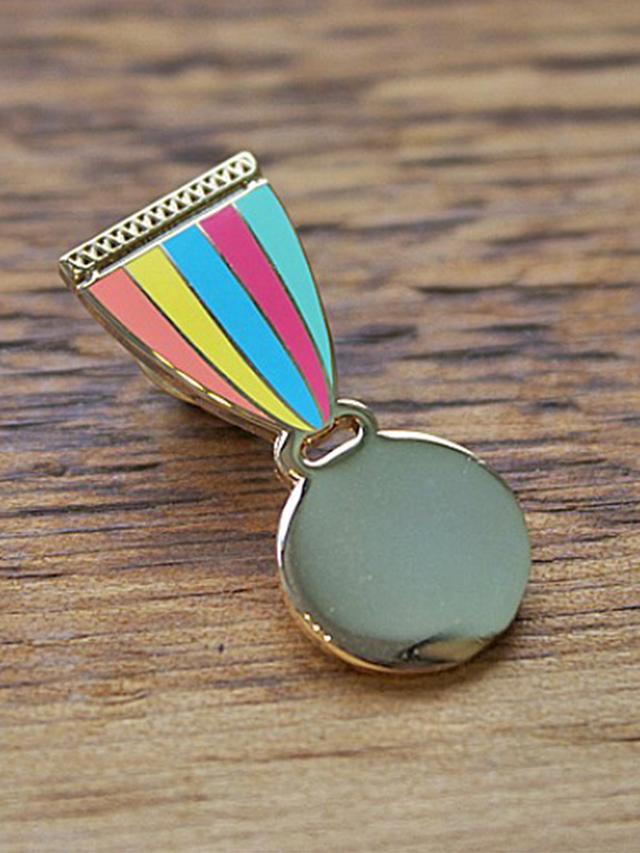 Greenwich Letterpress Medal of Honor Enamel Pin