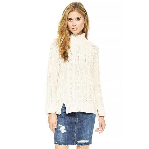 Popcorn Turtleneck Sweater