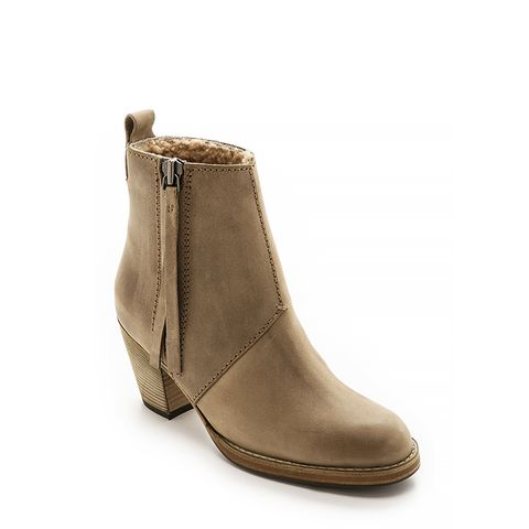Pistol Ankle Boots with Shearling Lining