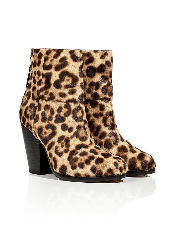 Rag & Bone Leopard Print Newbury Ankle Boots