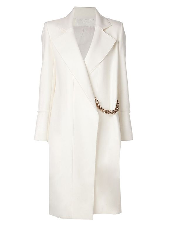Victoria Beckham Microtwill Pleat Coat