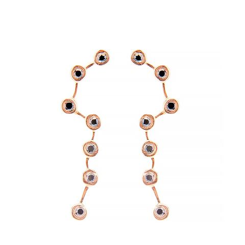 Onyx & Rose-Gold Plated Earrings