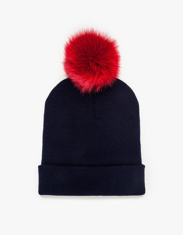 In God We Trust Beaker Pom Pom Beanie