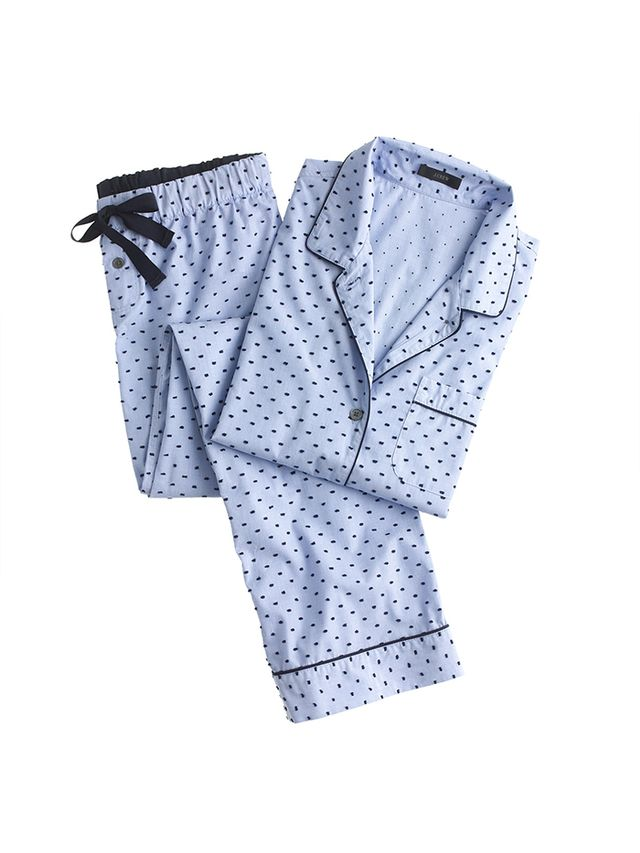 J. Crew End-On-End Pajama Set in Swiss Dot