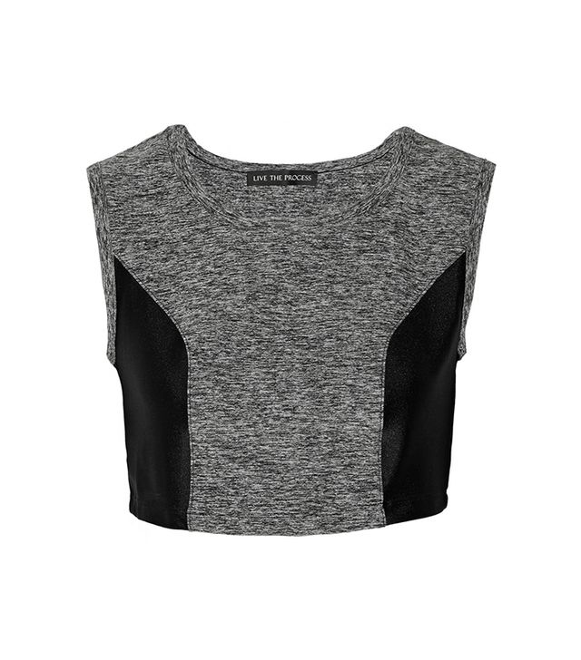 Live the Process Cropped Stretch-Jersey Top