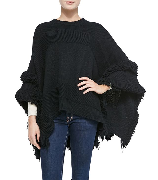 Derek Lam for Neiman Marcus Cashmere Poncho with Fringe