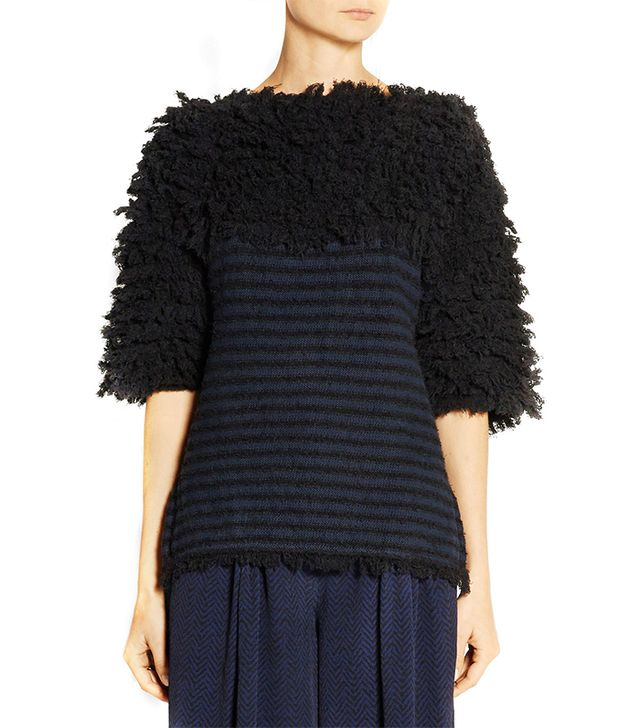 Thakoon Addition Textured Cotton Blend Sweater