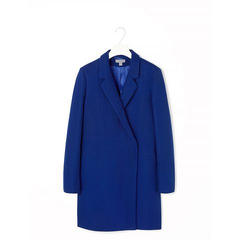 Crossover Wool Coat