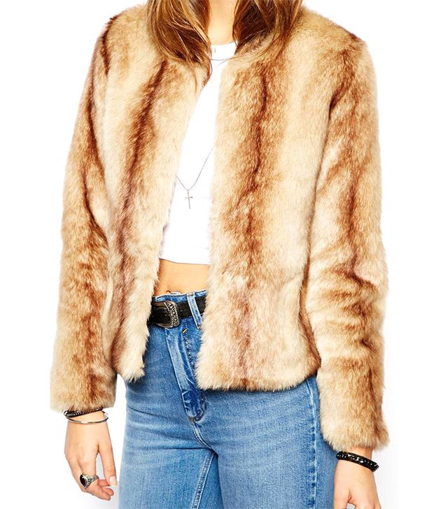Unreal Fur Dream Coat in Natural Beige Vintage Faux Fur