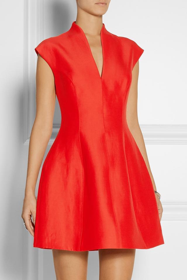 Halston Heritage Paneled Faille Mini Dress