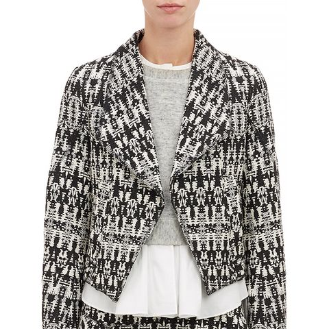 Tweed Cutout-Back Cropped Jacket