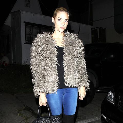 Jaime King fur coat