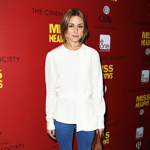 Olivia Palermo flared jeans