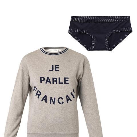 Je Parlais Francais-Print Sweatshirt