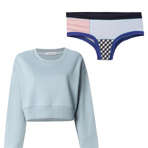 Basma Cropped Sweatshirt