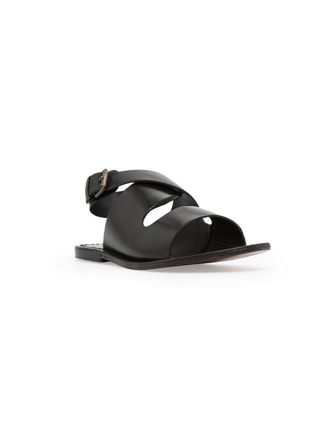 Mango Crisscross Leather Sandals