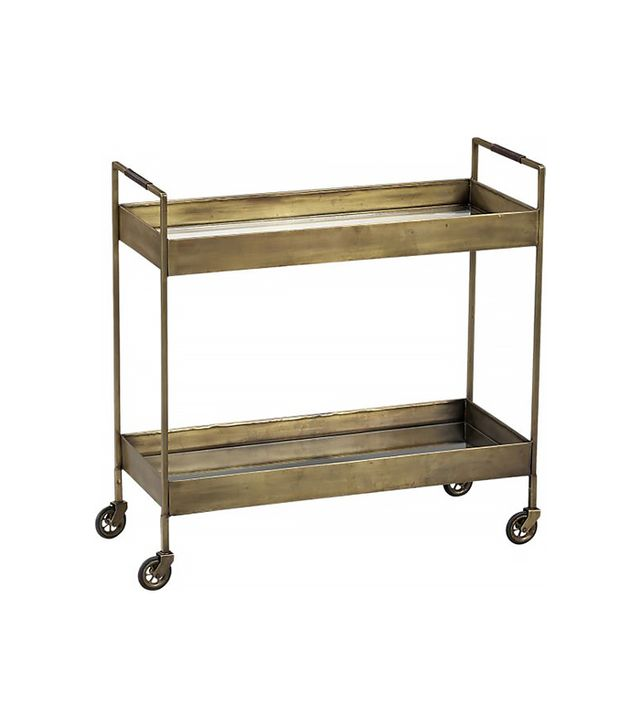 Crate and Barrel Libations Bar Cart