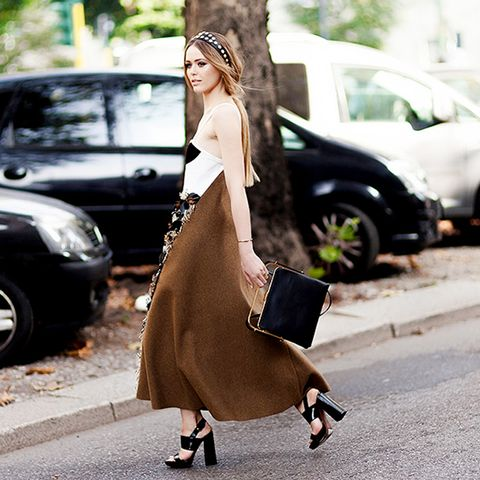 Kristina Bazan Headband Street Style