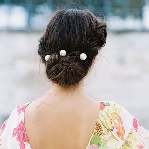 Hair Pearls Street Style