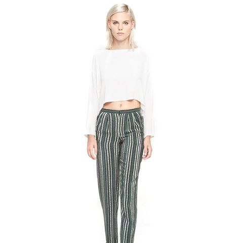 NY Striped Silk Pants