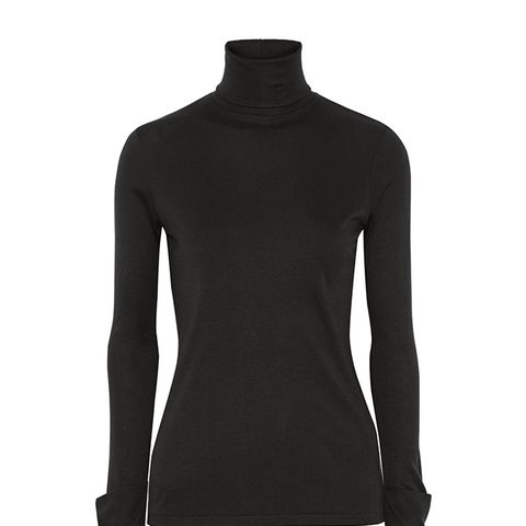 Courchevel Micro Modal and Cashmere-Blend Turtleneck Top