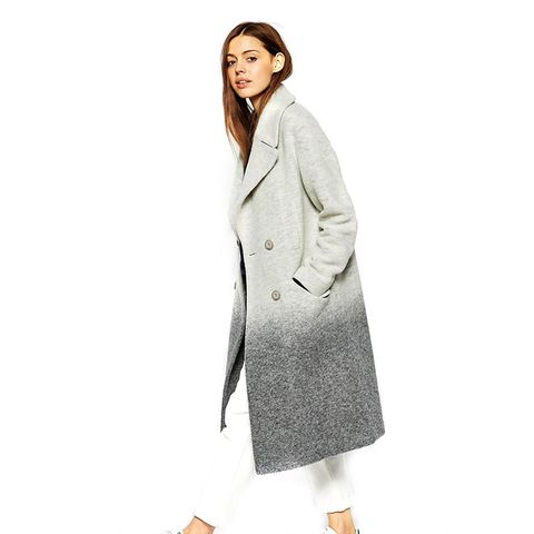 Oversized Coat in Ombre Boiled Wool