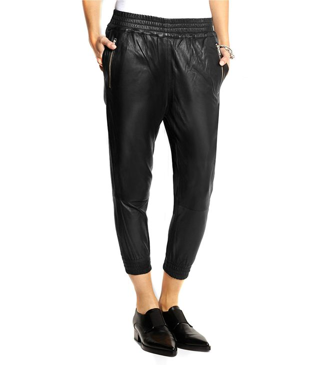OAK Runner Cropped Leather Track Pants