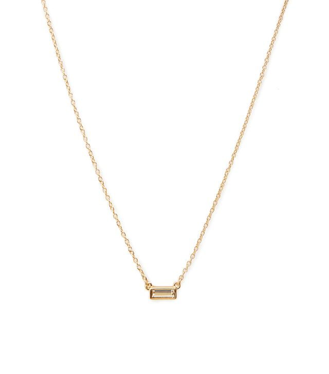 Forever 21 Minimalist Faux Gem Necklace