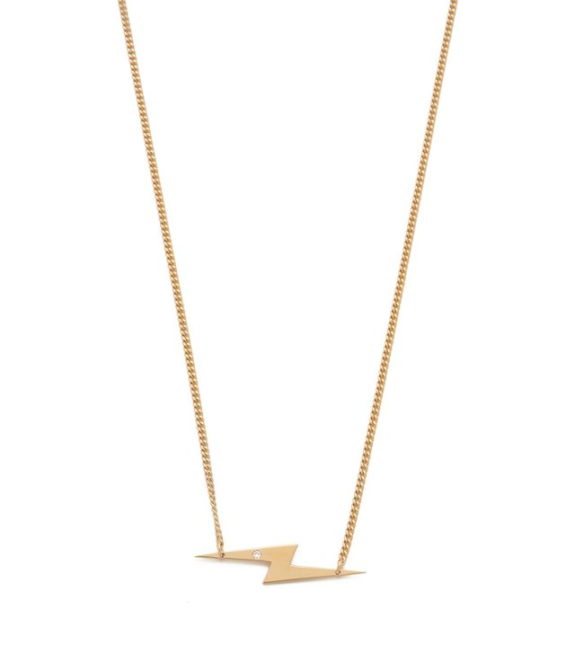 Jennifer Zeuner Jewellery Bolt Diamond Necklace
