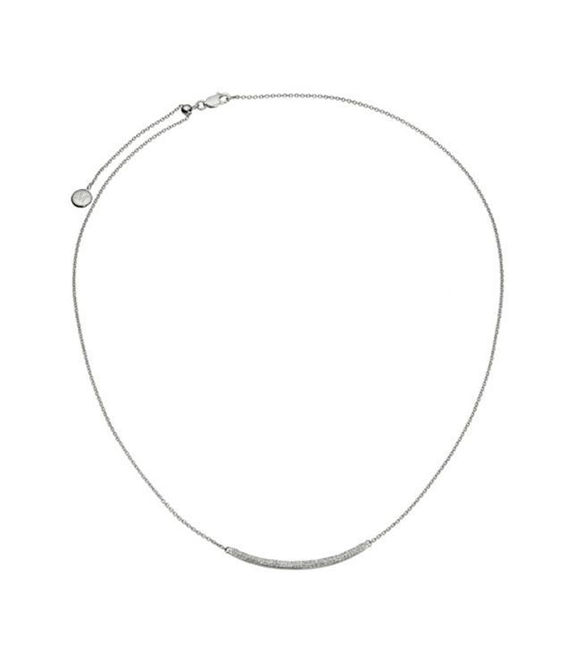 Monica Vinader Skinny Curve Necklace
