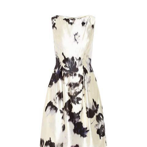 Printed Silk-Twill Dress