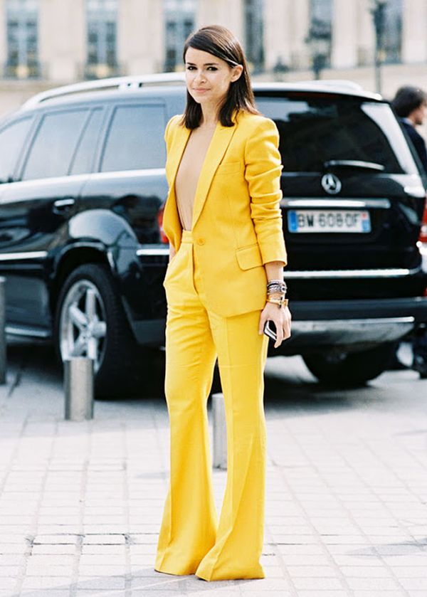 Matching Suit Sets Look Fresh in Primary Colours.