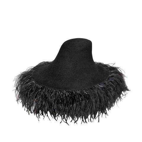 Lapin Fur Felt Wide Brim Hat