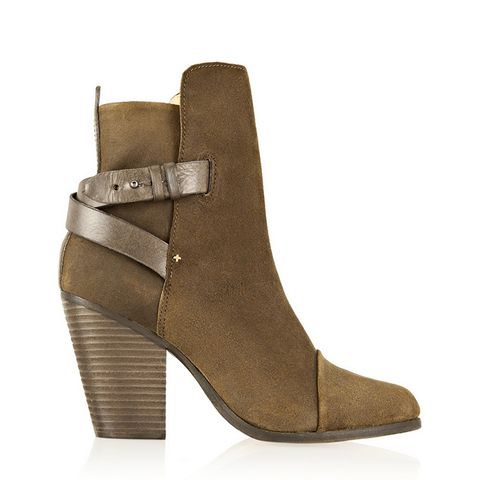 Kinsey Leather-Trimmed Waxed-Suede Ankle Boots