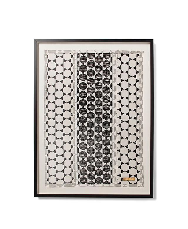 St. Frank Biddew Noir Framed Textile