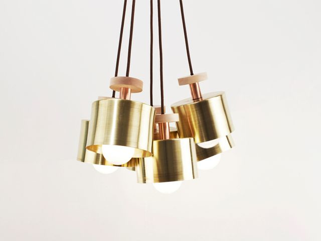 A Show-Stopping Copper and Brass Chandelier